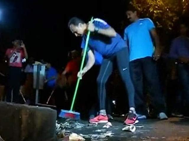 Video : For a Bit Today, He Was Anil Ambani, Street Cleaner