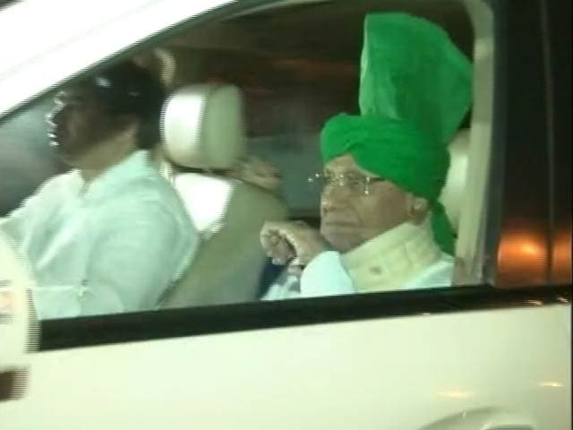 Video : Former Haryana Chief Minister OP Chautala Surrenders at Tihar Jail