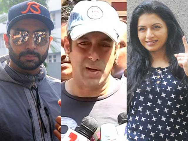 Bollywood Stars Cast Vote in Maharashtra elections