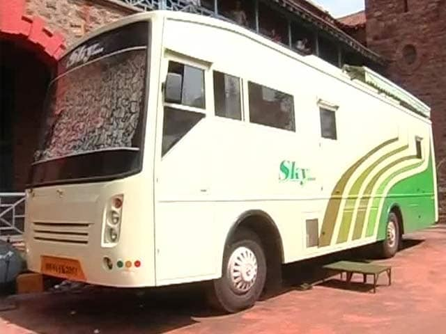 Video : A Bus as War-Room, Office and Home for Chandrababu Naidu