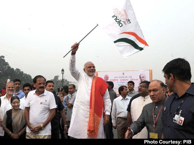 Video : Prime Minister Narendra Modi Flags Off 'Run for Unity' Event