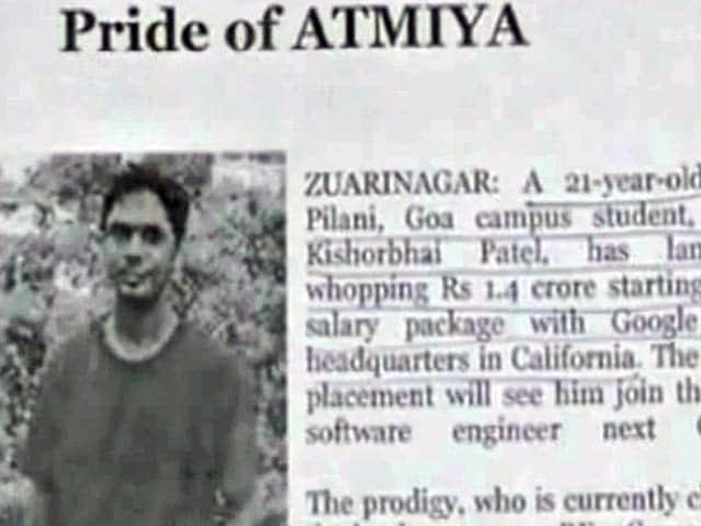 Video : इस छात्र को मिला 1.40 करोड़ के पैकेज का जॉब ऑफर
