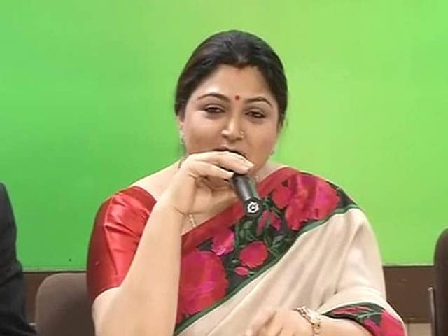 Video : Actor-Politician Khushbu Joins Congress, Says 'I'm Finally Home'