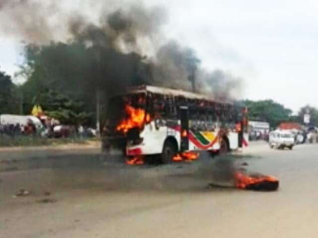 Video : Bus Catches Fire in Bangalore, At Least 3 Injured