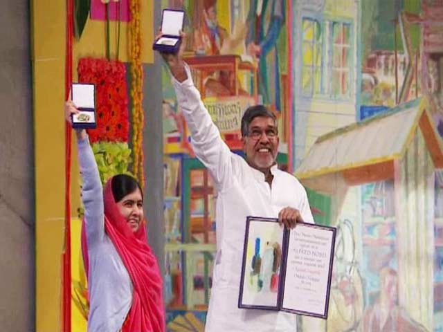 Video : Kailash Satyarthi, Malala Yousafzai Receive Nobel Peace Prize
