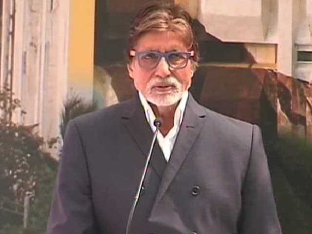 Video : Big B Inaugurates a Big Mural of Dadasaheb Phalke