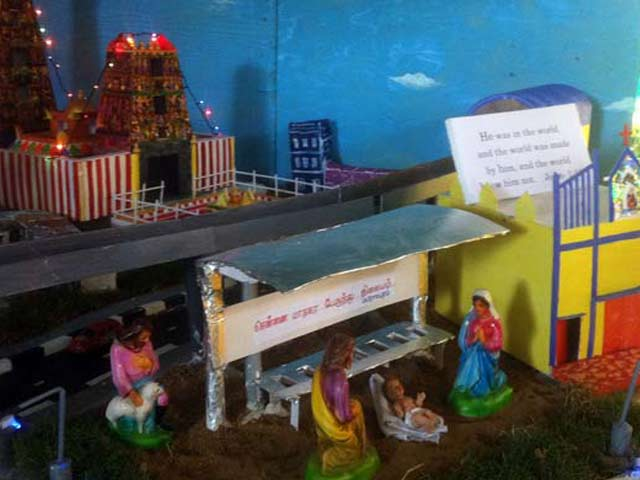 Video : Family Makes Christmas Crib That Brings Bethlehem to Chennai's Mylapore