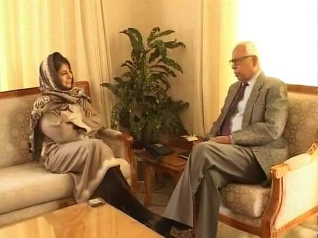 Video : As Kashmir Waits for Government, Mehbooba Mufti Speaks of Vajpayee