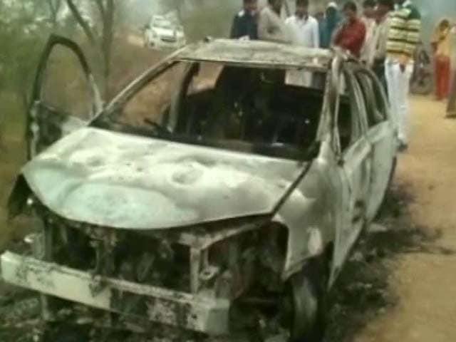 Video : Charred Bodies of 4 Delhi Men Found Inside Car in Haryana
