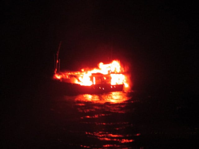 Video : Pakistani Boat With Explosives Blows Up Off Gujarat Coast, Says Government