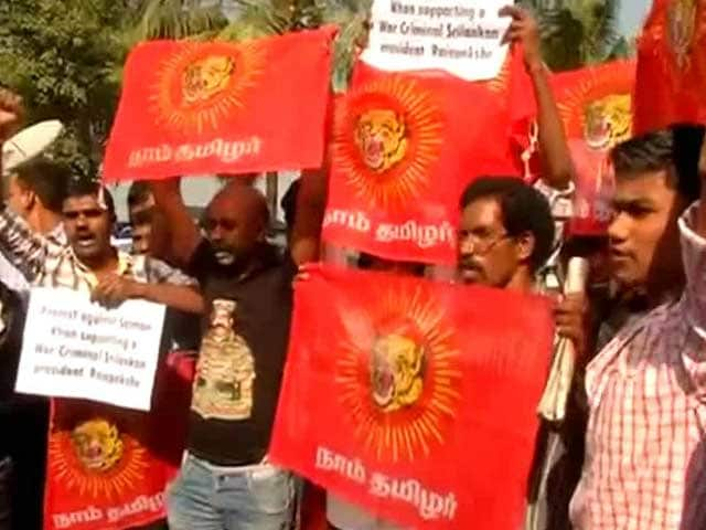 Video : Pro-Tamil Groups Protest Outside Actor Salman Khan's House
