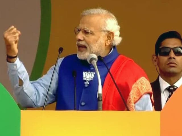 Video : We Need Development Here, Not Anarchy: PM Narendra Modi Targets AAP at Delhi Rally