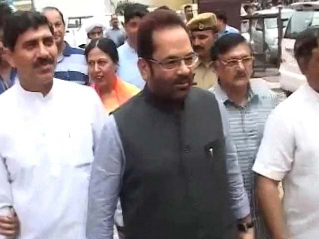 Video : Mukhtar Abbas Naqvi Taken Into Custody Over Poll Code Violation Case, Gets Bail