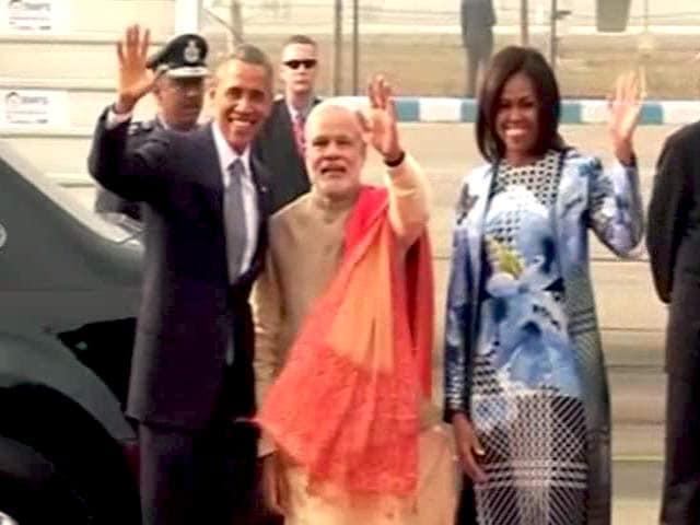 Video : ओबामा-मोदी के बीच हैदराबाद हाउस में 'वॉक एंड टॉक'
