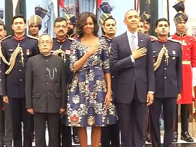 Videos : राष्ट्रपति भवन में ओबामा के सम्मान में भोज