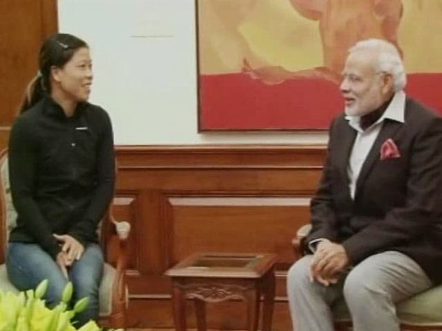 Video : MC Mary Kom Meets Prime Minister, Invites him for Academy's Inauguration