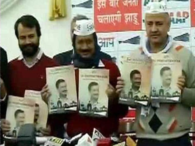 Video : Delhi Polls: Arvind Kejriwal Releases AAP Manifesto, Promises Women's Safety, Free Wi-Fi