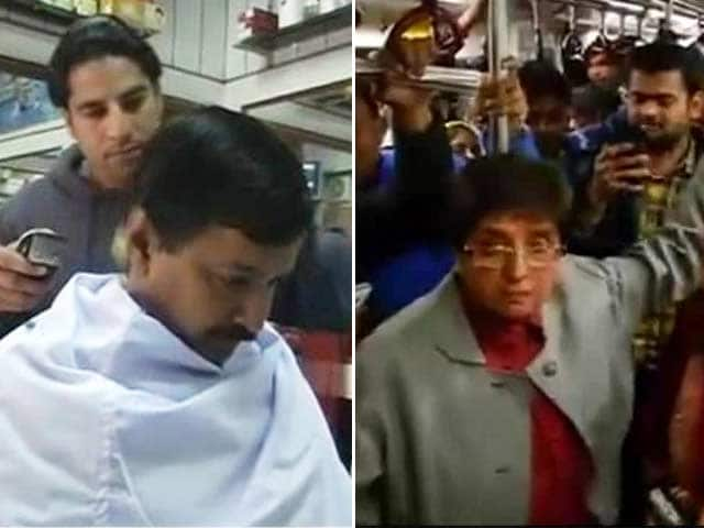 Video : How Arvind Kejriwal and Kiran Bedi Spent the Last Day Before Delhi Polls