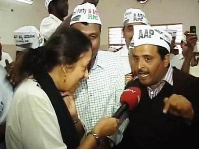 Video : Karnataka's AAP Celebrates Delhi Win, Congratulates Arvind Kejriwal