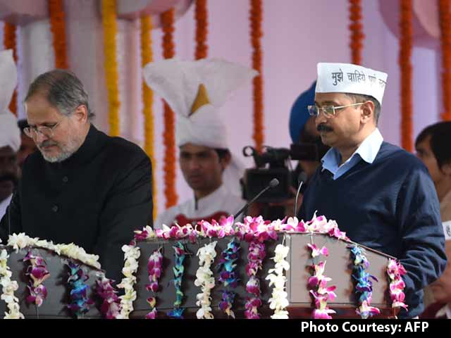 Video : AAP <i>Ka</i> CM: Arvind Kejriwal Takes Oath