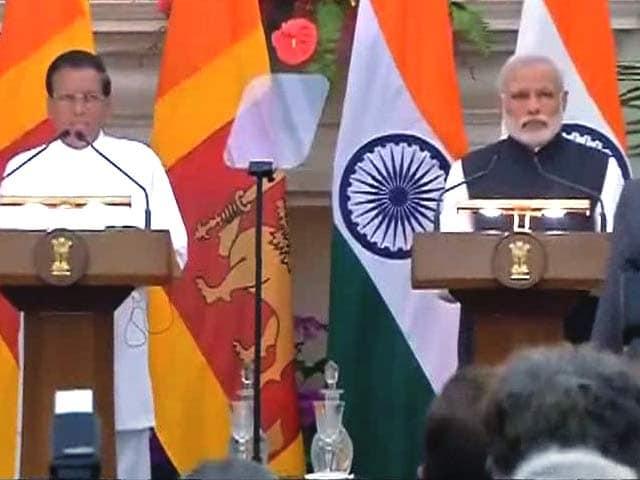 Video : PM Modi's Joint Presser With Sri Lankan President