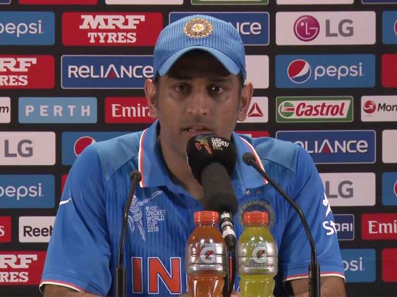 Mahendra Singh Dhoni Says Players Doing Their Jobs in Cricket World Cup 2015