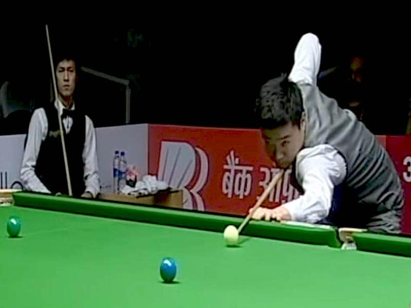 Video : Defending Champion Ding Junhui Out of the Indian Open Snooker Tournament