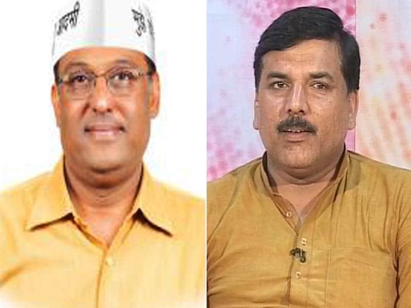 Videos : न्यूज़ प्वाइंट में फोन पर ही उलझे राजेश गर्ग और संजय सिंह