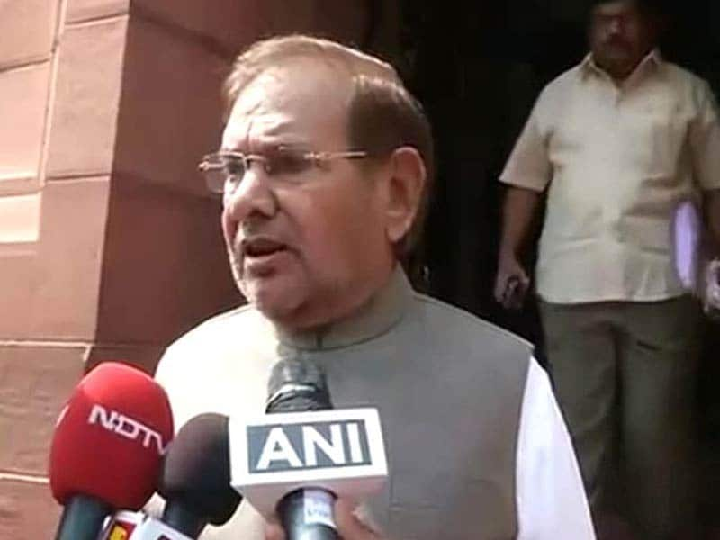 Video : 'I Know What You Are': Sharad Yadav's New Installment to Offensive Remarks