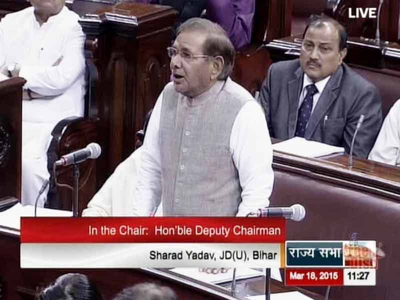 Video : 'Have the Greatest Respect for Smriti Irani,' Says Sharad Yadav, Forced to Explain Offensive Remark