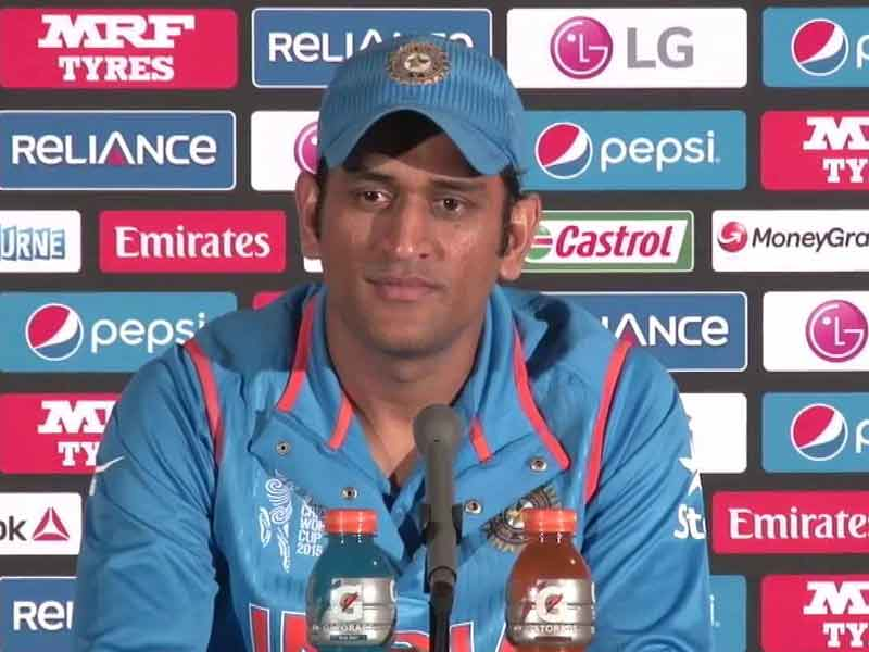 Video : India Can Surely Play World Cup Final at MCG on March 29: MS Dhoni