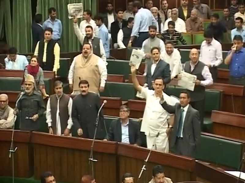 Video : Ruckus in Jammu and Kashmir Assembly Over Terror Attacks