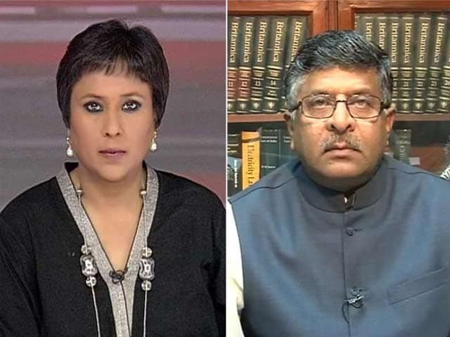 Video : 'Can't club Us With Congress; Full credit to PM Modi': IT Minister on Section 66(A)