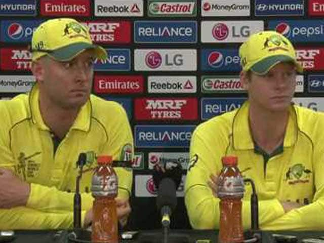 Video : Michael Clarke Salutes Steven Smith After Australia Make World Cup 2015 Final