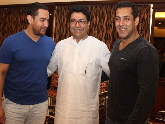 Video : Salman, Aamir Attend Raj Thackeray's Meet on Mumbai