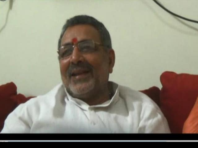 Video : After Racist Remark, Minister Giriraj Singh Warned Not to Embarrass the Government