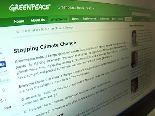 Video : Greenpeace India in New Trouble With Government Over Foreign Funds