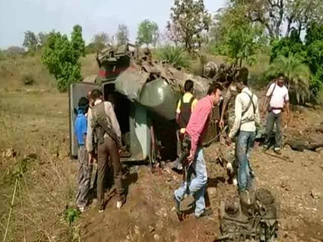Video : Four Policemen Killed in Chhattisgarh After Naxals Blow Up Anti-Landmine Vehicle