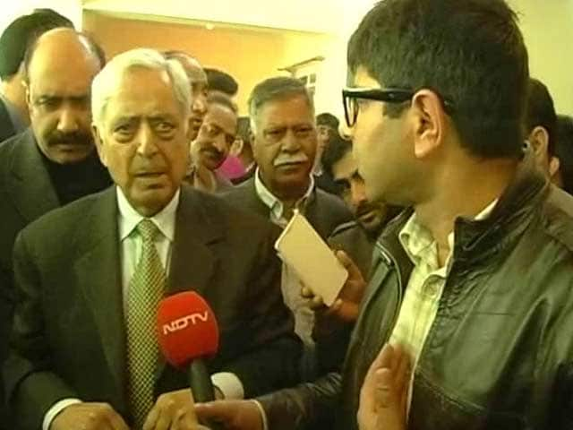 Video : Pakistan Flag at Separatists' Rally Unacceptable, Won't be Tolerated: Mufti Sayeed to NDTV
