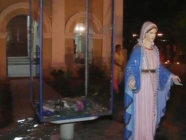 Video : Church Allegedly Vandalised in Agra, Statues Broken