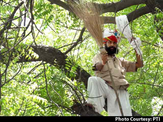 Video : Farmer From Rajasthan Hangs Himself From Tree at AAP Rally in Delhi