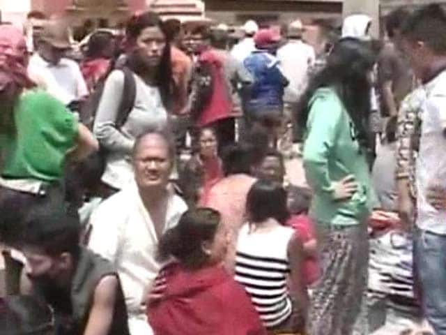 Video : Scared Kathmandu Jolted by Fresh Tremors