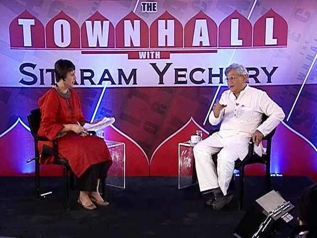Video : BJP in Power Thanks To Congress; No Chance of Allying With Them Again: #TownHallWithYechury