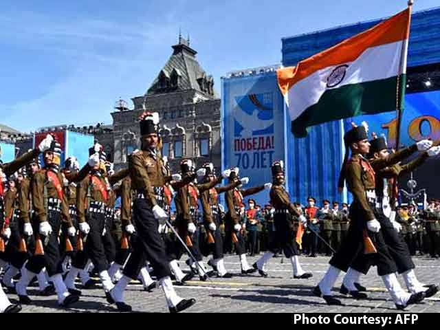 Video : Indian Army Men Attract all Eyes During Russian Victory Day
