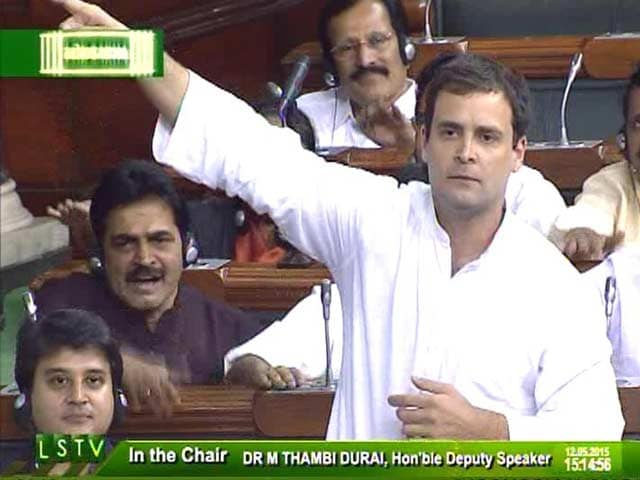 Video : Government Has 'Murdered' Land Laws: Rahul Gandhi's Dramatic Comments in Parliament