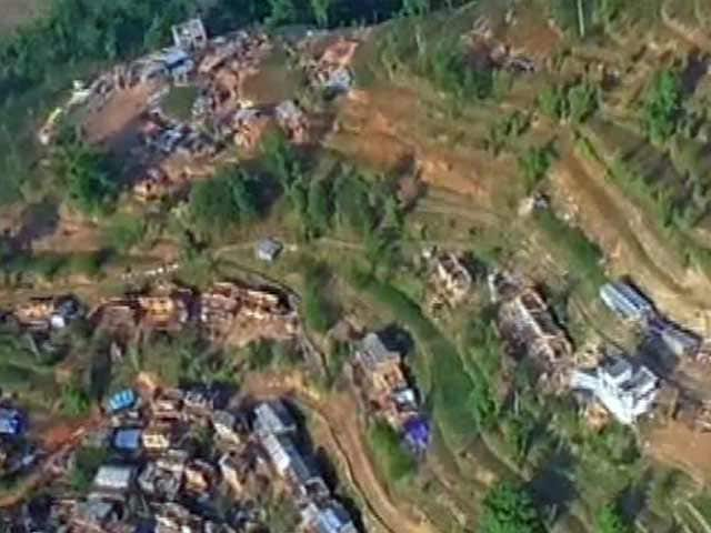 Videos : नेपाल में आए भूकंप के बाद तबाह हुए चौतारा की हवाई तस्वीरें