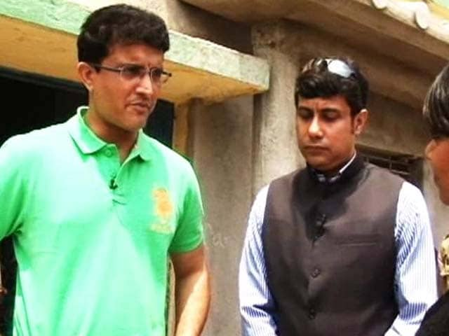 Video : Sourav Ganguly Goes Back to School