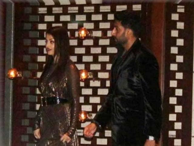 Video : Ash, Abhishek Attend Ambanis Party for Mumbai Indians