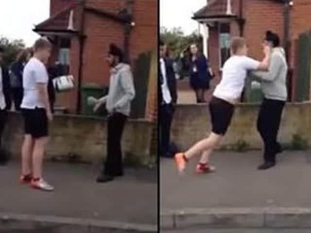 Videos : ब्रिटेन में धमकी देने वाले अंग्रेज छात्र को सिख नौजवान ने सिखाया सबक, वीडियो हुआ वायरल