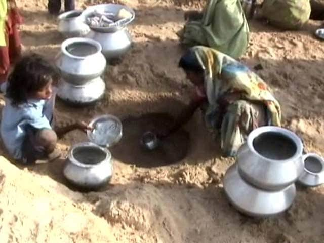 Video : Heat Wave Drives Villagers to Dig Into River Bed